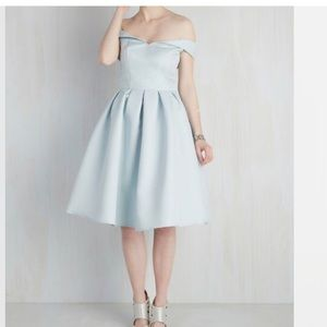 MODCLOTH VOGUE DEVOTION DRESS 2 4 BABY PALE BLUE